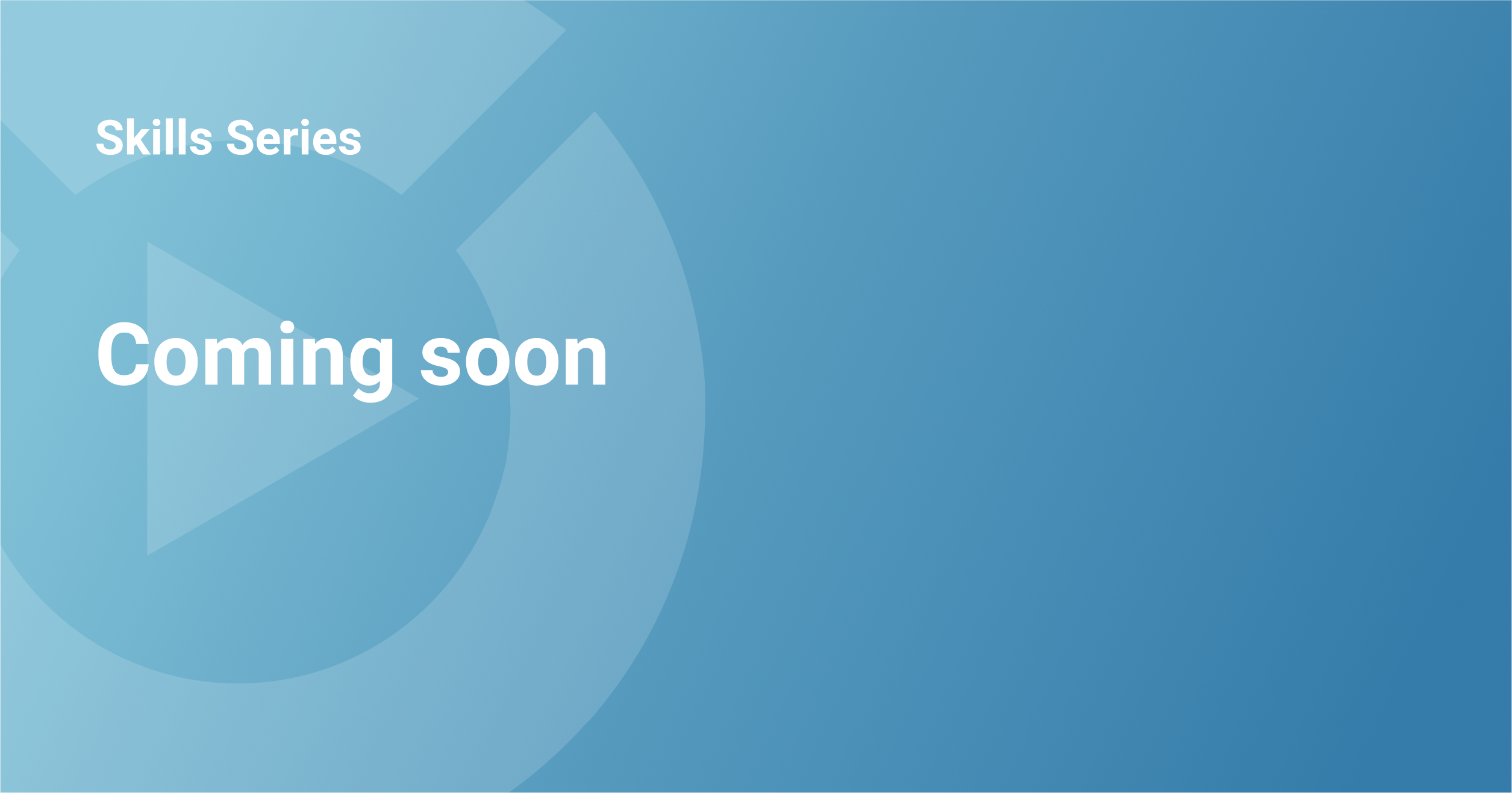 Utility Cloud - Skills Series - Coming Soon